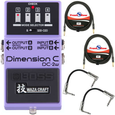 Boss DC-2W Dimension C Waza Guitar Pedal with Instrument cables & Patch cables