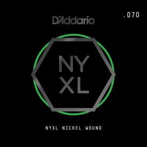D'Addario NYXL Nickel Wound Electric Guitar Single String .070