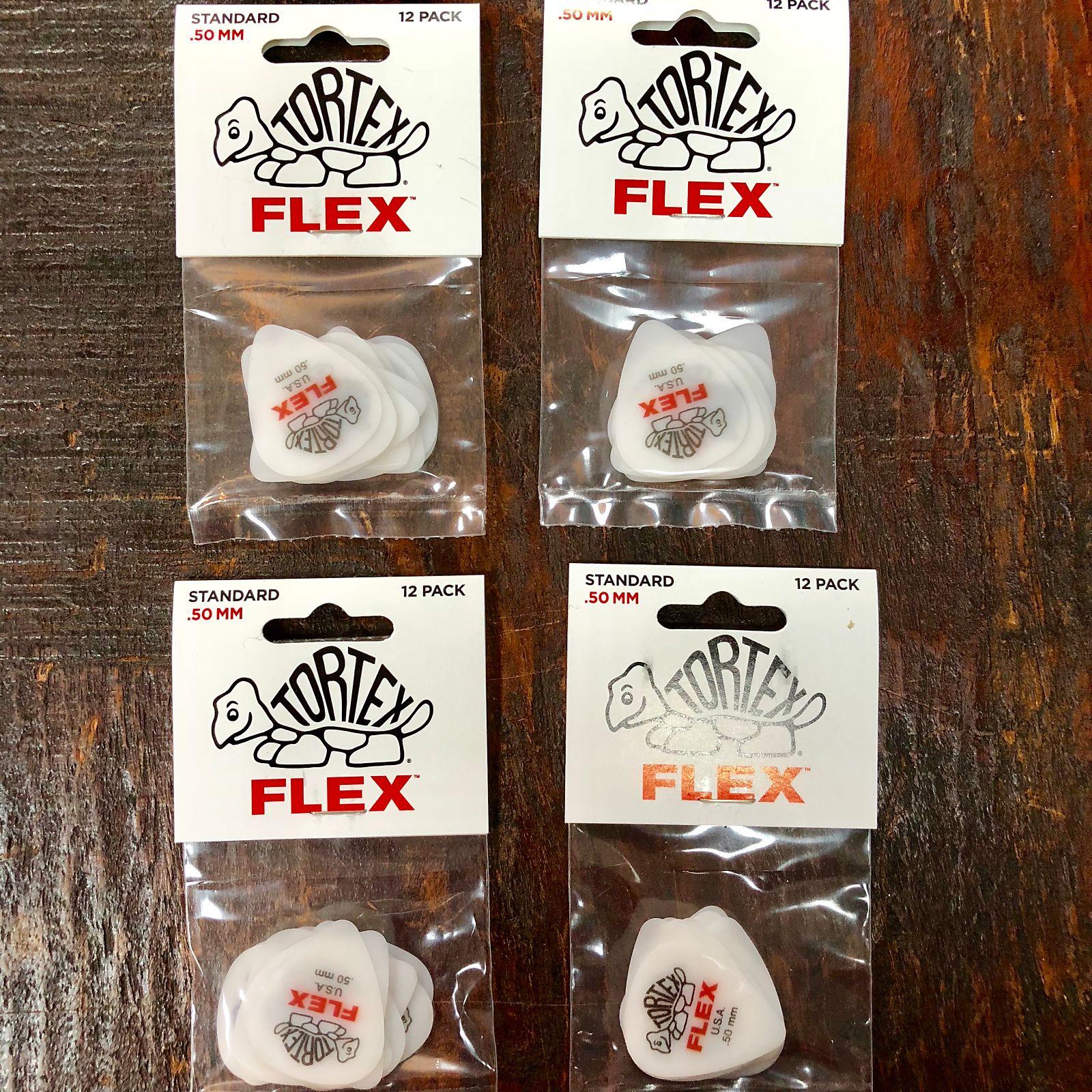 Dunlop 428P.50 Tortex Flex Standard Guitar Picks 12pk .50mm Red