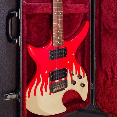 Marina E-602 1980s Red Flames for sale