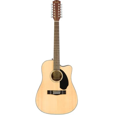 Fender CD-60SCE 12-String Dreadnought with Walnut Fretboard and Electronics Natural 2018