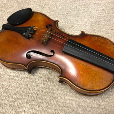 Vintage Handmade 4/4 Stradivarius German Violin, 2 Bows and Case