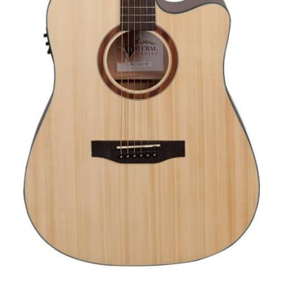 Martinez 'Natural Series' Solid Spruce Acoustic-Electric Dreadnought Cutaway Guitar for sale