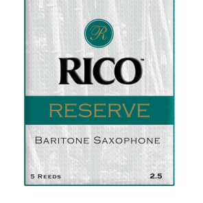 Rico RLR0525 Reserve Baritone Saxophone Reeds - Strength 2.5 (5-Pack)