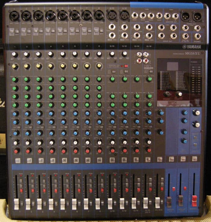 Yamaha mg16xu 16 channel analog rackmountable mixer with for Yamaha mg16xu dimensions