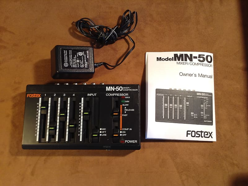 Compressor **COOL Vintage FOSTEX MN-50 MN50 Music Audio Mixer Tested!