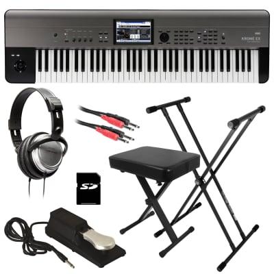 Korg Krome EX 73 Music Workstation - Key Essentials Bundle