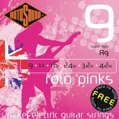Rotosound R9 Roto Pinks Electric, Super Light, 9-42 for sale