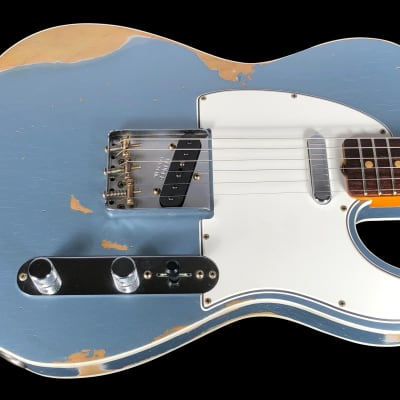 2019 Fender Telecaster 1960 Custom Shop  Heavy Relic 60 Tele ~ Ice Blue Metallic for sale