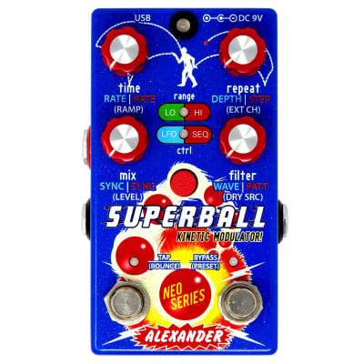 Alexander Pedals Superball Kinetic Modulator Delay Pedal