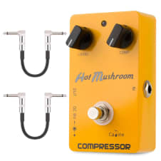 Caline CP-10 Compressor Hot Musroom Effects Pedal Free Patch Cables