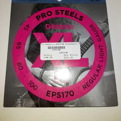 D'Addario EPS170 ProSteels Stainless Bass String Set - Regular Light .045-.100