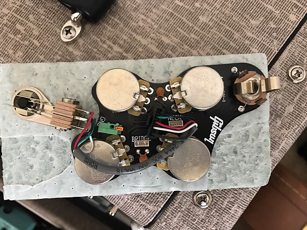 Gibson SG Wiring Harness 2016 Quick Connect   Reverb on gibson solderless pickup system, parrot hands-free adapter harness, gibson eb-2d wiring, gibson quick connector,