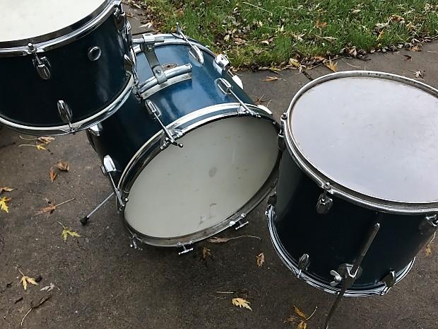 vintage stewart mij blue sparkle drum kit reverb. Black Bedroom Furniture Sets. Home Design Ideas
