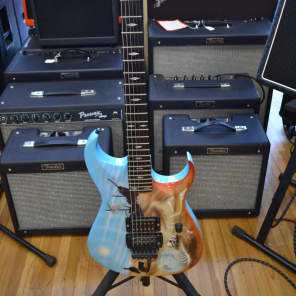 Axtra Super Strat 1991 Custom Graphic for sale