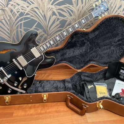 Gibson Memphis ES-335 Anchor Stud with Bigsby 2018 black ebony for sale