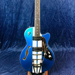 Duesenberg Mike Campbell I TV Starplayer Electric Guitar in Metallic Blue with Hard Case for sale