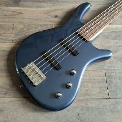 1995 Anboy (Fujigen Japan) Odyssey Series 5-String Jazz Bass (Sparkle Blue) for sale