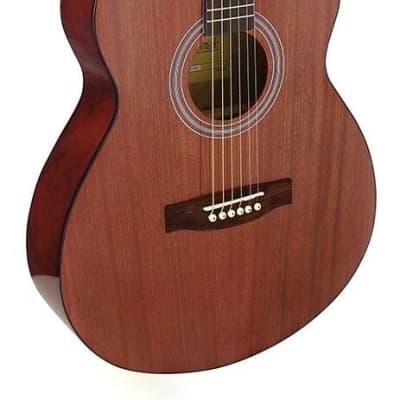 Brunswick Brunswick Mahogany Gloss Finish Slimline Folk Acoustic Guitar BTK40M 2021 Mahogany Gloss for sale