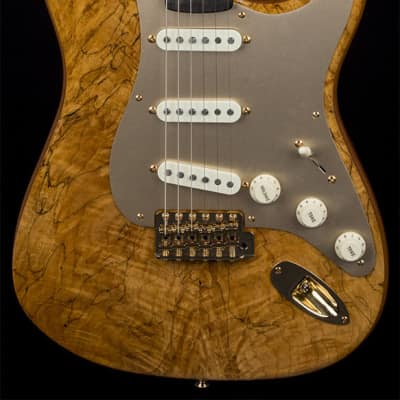 Custom Shop Artisan Spalted Maple Stratocaster with African Blackwood Fretboard, Gold Hardware for sale