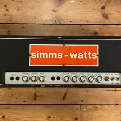 Simms watts Ap100 valve amp 1971 for sale