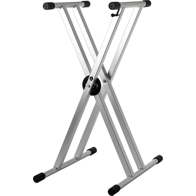 Strukture SK2XA Double Brace Anodized Aluminum Keyboard Stand Silver