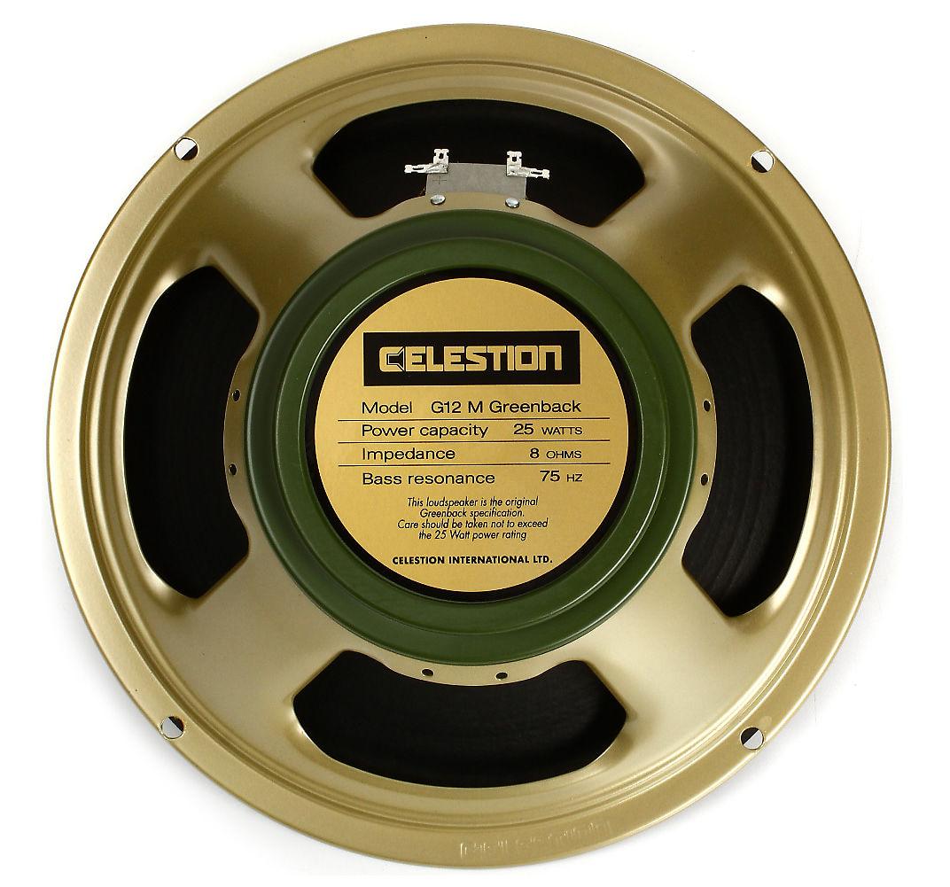 celestion t1220 g12m greenback 25w 12 speaker 8 ohm reverb. Black Bedroom Furniture Sets. Home Design Ideas