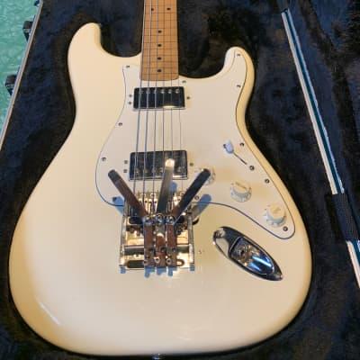 Lap Steel Stratocaster Squareneck Duesenberg Multibender Fender American Standard HH palm levers for sale