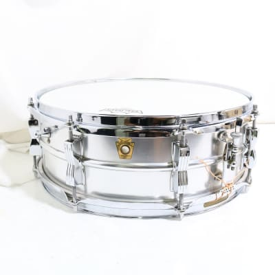 """Ludwig No. 404 Acrolite 5x14"""" Aluminum Snare with Keystone Badge 1960s"""
