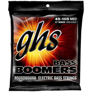 GHS Bass Boomers Roundwound Electric Bass Strings Long Scale Plus M3045X 45-105