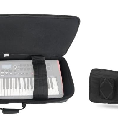 Rockville BEST BAG 76 Key Padded Rigid Durable Keyboard Gig Bag Case+Foam Insert