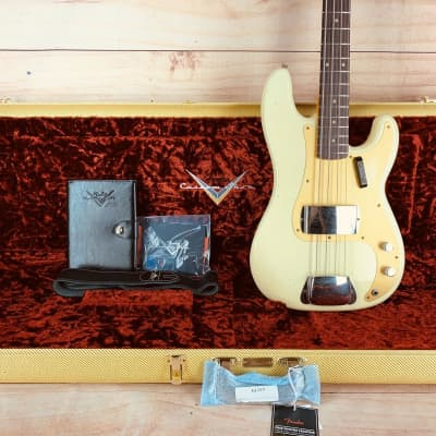 Fender Custom Shop Journeyman Relic 1959 Precision Bass, Aged Vintage White, 8.6 lbs for sale