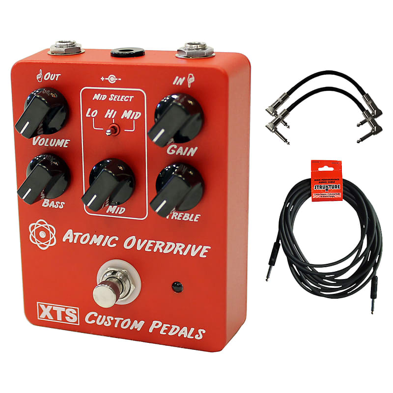 xact xts atomic overdrive pedal bundle red geartree reverb. Black Bedroom Furniture Sets. Home Design Ideas