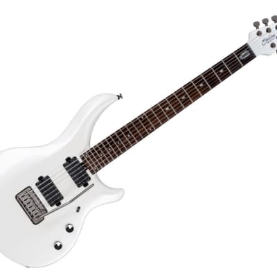 Sterling by Music Electric Guitar with Gigbag- Pearl White/Rosewood-MAJ100X-PWH for sale