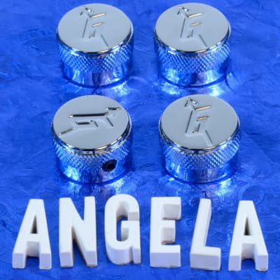 Four Chrome G Arrow Control Knobs Generic Replacement For Gretsch Import Models 6mm Metric