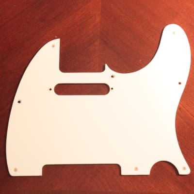 Stewmac NEW White Vintage Telecaster Pickguard 1 Ply 8 Hole 2010s White for sale