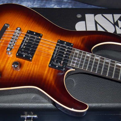 MINTY! ESP Horizon Amber Finish! Orignal ESP Case Authorized Dealer SAVE BIG! for sale