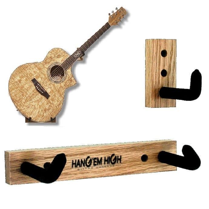 No Finish Angled Hang Em High Guitar Wall Hanger For