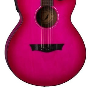 Dean AXcess Performer Acoustic/Electric Guitar, Pink Burst, AX PE PB for sale