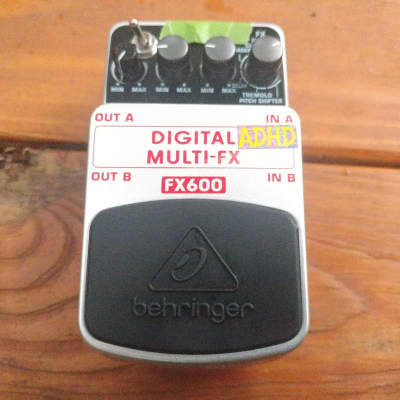 Circuit Bent Behringer FX600 Digital Multi-FX Pedal (For Synth Use Only) for sale