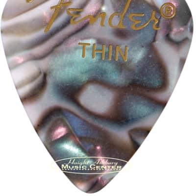 Fender 12 Count of Classic 351 Shape Premium Abalone Thin Guitar Picks