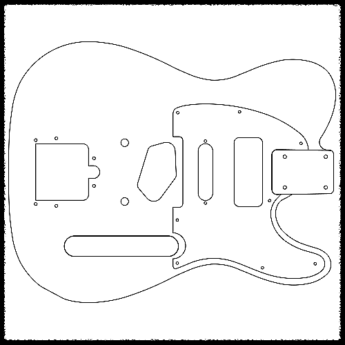 Telecaster Guitar Routing Templates 1 4 Mdf Reverb