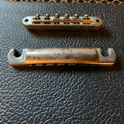 Gibson Gibson Custom Shop ABR-1 Bridge and Lightweight Tailpiece True Historic 2019 Aged Nickel for sale