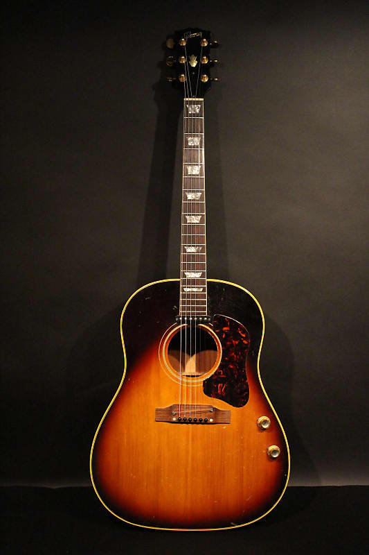1968 gibson j 160e sunburst with non original hardshell case reverb. Black Bedroom Furniture Sets. Home Design Ideas