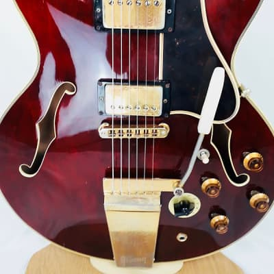 Gibson ES-355TDSV with Lyre Vibrola 1976 Cherry, Free Worldwide Shipping