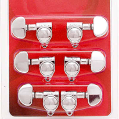 Grover Rotomatic 18:1 Chrome 3+3 Guitar Tuning Machine Key (102-18C)