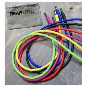 Pittsburgh Modular Nazca Audio 24-Pack Synth Noodle Cables Bundle w/ Geartree Cloth