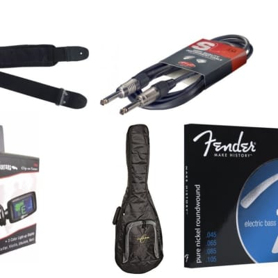 Fender, AXL, Stagg, Effin & Oscar Schmidt Electric Bass Players Accessory Bundle for sale