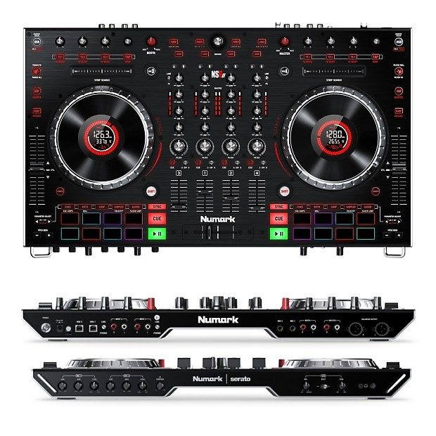 NUMARK NS6II 4 Channel DJ Controller Workstation with Serato Software