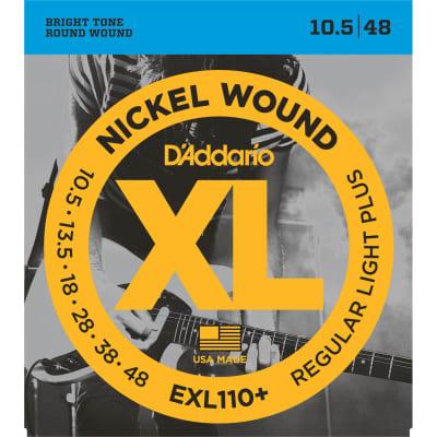 D'Addario EXL110+ Nickel Wound Electric Guitar Strings, Regular Light Plus Gauge